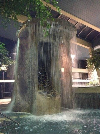 Indoor Pool Awesome Waterfall Amp Two Tiers Picture Of