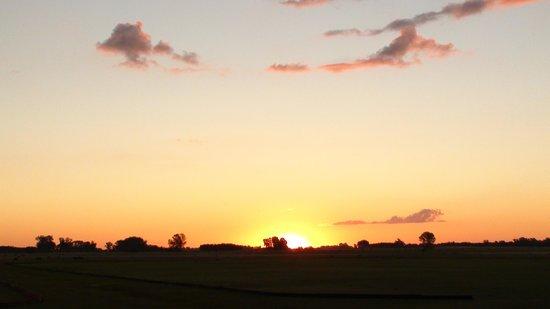 La Tarde Polo Club : il tramonto dalla camera