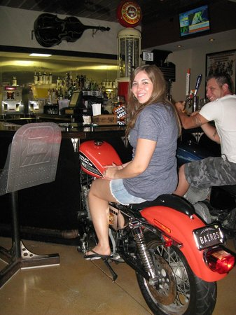 The Wicked Wheel Bar & Grill: seating at the bar