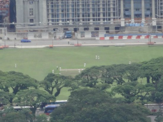 Singapore Cricket Club : Zoomed view from Marina Bay Sands SkyPark