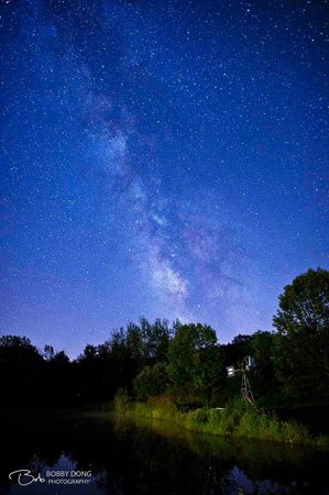Noble House Farm B&B: Milky Way Above The Lake