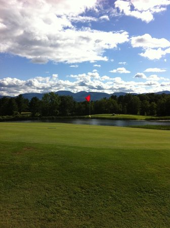 Sunny Hill Resort and Golf Course: View from 12th Green (long par 3 over water--I shot a 4!)