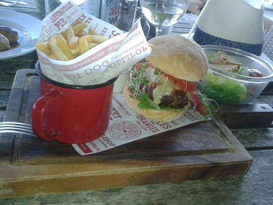 The Old Granary: Burger and chips