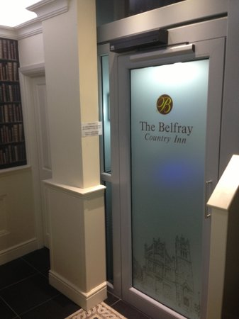 The Belfray Country Inn: the lift to all floor