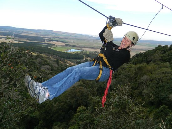Karkloof Canopy Tour : Awesome scenery on the way.