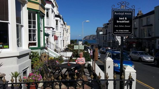 Outside Burleigh House, Llandudno