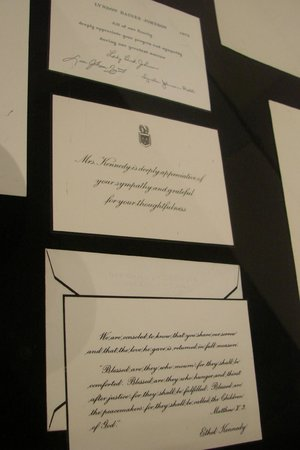 Crane Museum of Papermaking: Thank-you Notes from Jackie Kennedy and Ethel Kennedy