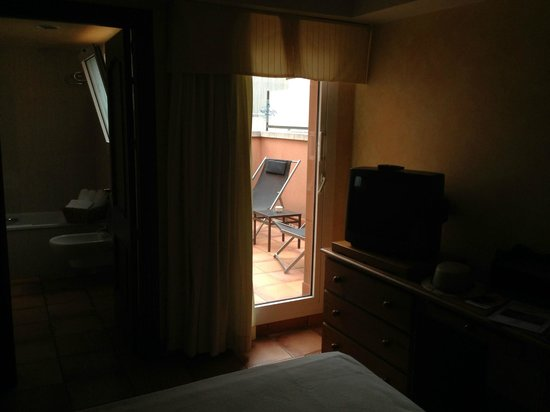 Vila de Tossa: Vista del balcón desde la habitación