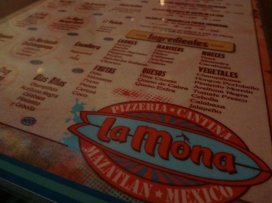 La Mona Centro: El menú