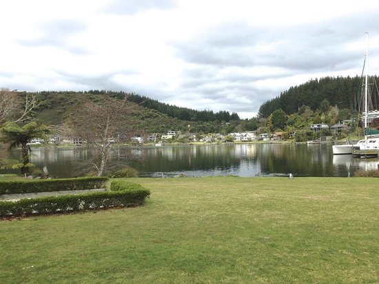 VR Rotorua Lake Resort: view from their largest suite room downstairs