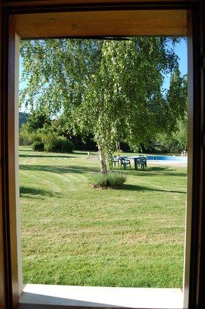 Hostal Gau Txori: dalla finestra del bagno