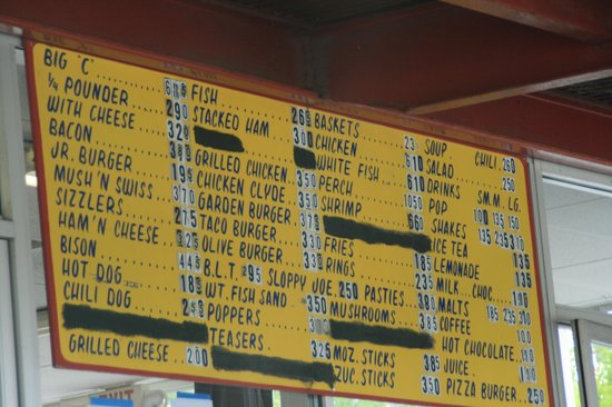Clyde's Drive-In: Menu