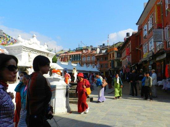 Hyatt Regency Kathmandu: circundando la stupa