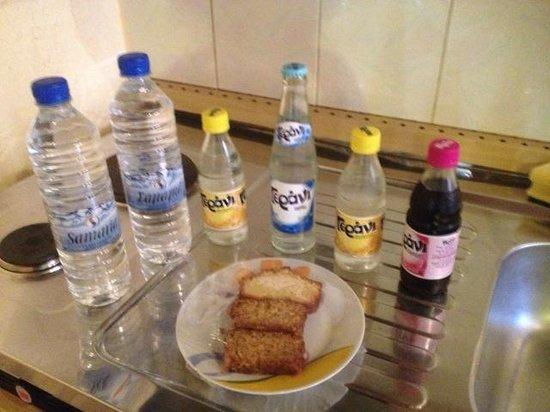 Pazinos Village Studios: treats in room upon arrival