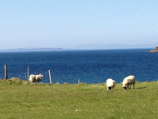 Solas Bed and Breakfast: View across the Minch to the Isle of Skye