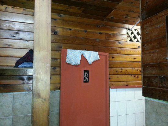 MacKenzie Beach Resort: Shorts left on the door into the men's shower/bathroom for two days.