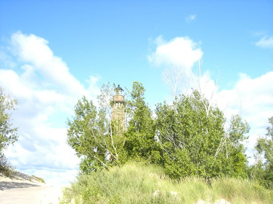 Little Sable Point Lighthouse: View approaching the lighthouse