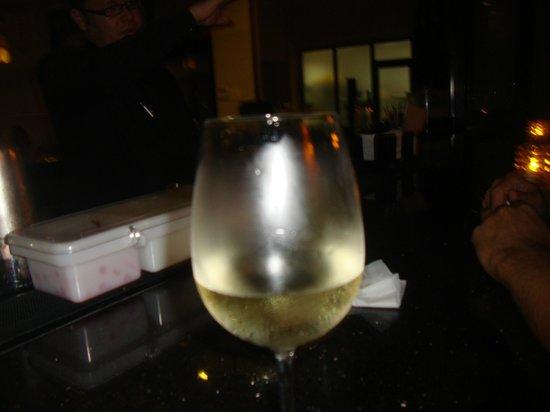 Benihana: Wine at the outside bar