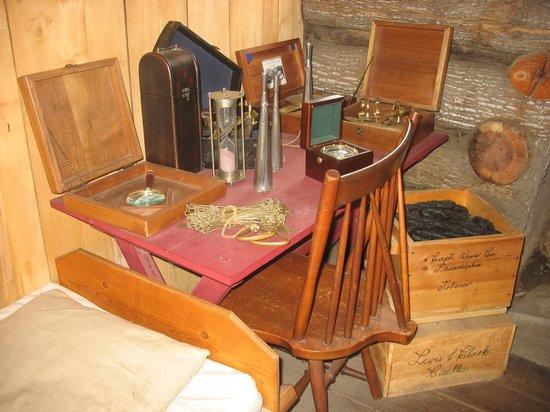 Lewis & Clark State Historic Site &  Interpretive Center: Captain's Quarters in Camp River Dubois