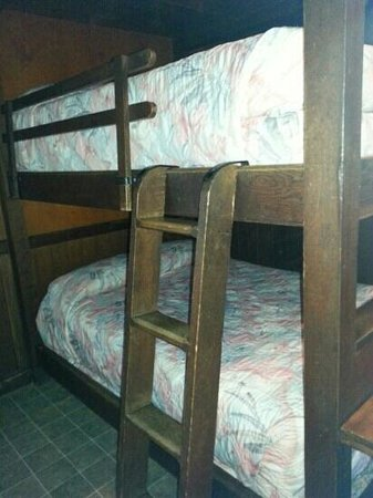 Cacapon Resort State Park: Bottom Bunks in Bungalow #29. Two more single beds above (not pictured)