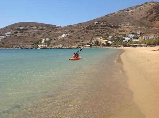 Yialos Ios Hotel : plage de yalos