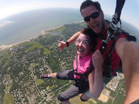 Skydive Cape Cod: Floating over Chatham, MA
