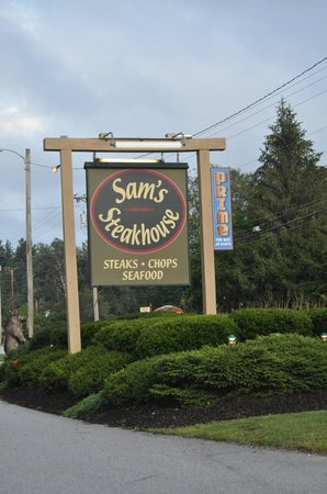 Sam's Steakhouse: Don't know if they take reservations.