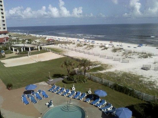 Hampton Inn Pensacola Beach: Southeastern view from balcony