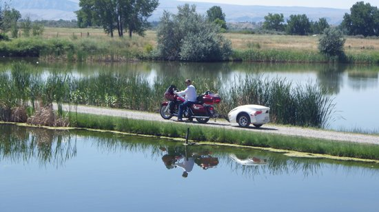 Bighorn River Lodge: We rode our motorcycle here