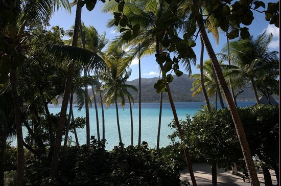 Le Taha'a Island Resort & Spa: View from restaurant