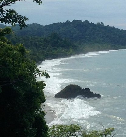 Arenas del Mar Beachfront & Rainforest Resort: Manuel Antonio Coastline from the main pool & restaurant area