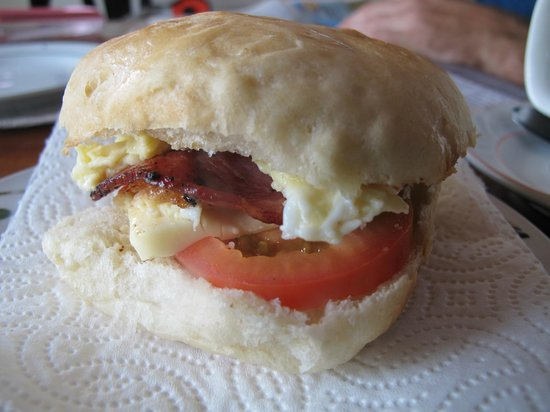 Glenda's : Breakfast sandwich on perfect chewy homemade bread
