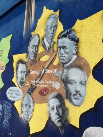 Canadian Moments Mural: The Group of Seven
