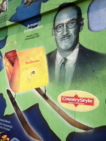 Canadian Moments Mural: Armand Bombardier & the Snowmobile