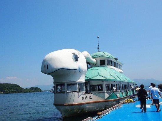 Bandai Kankosen, Lake Cruise in Inawashiro: かめ丸