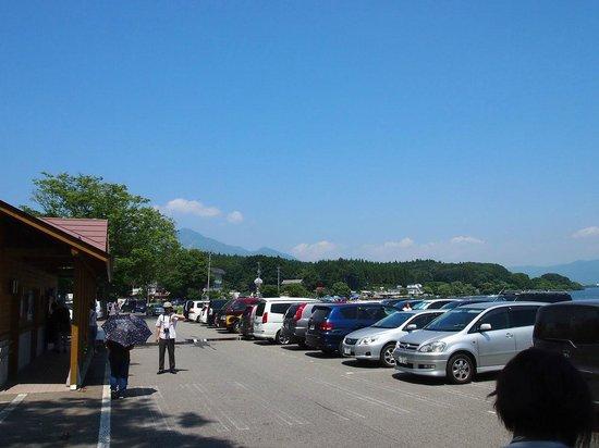 Bandai Kankosen, Lake Cruise in Inawashiro: 長浜駐車場
