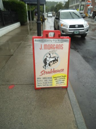 J Morgan's Steakhouse: Sign that caught our eye!