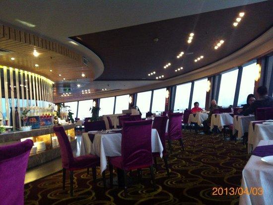 Guang Dong Hotel Zhuhai : 展望レストランで朝食