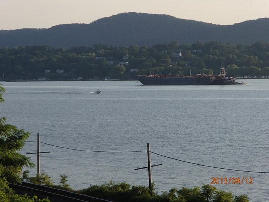 The Rhinecliff: View of the river from our balcony.