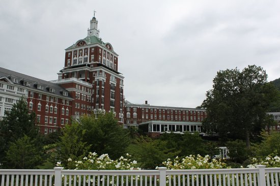 The Omni Homestead Resort: Hotel exterior, as seen from pool