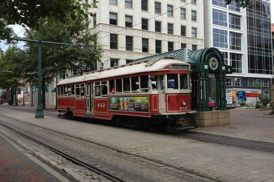 Sleep Inn at Court Square: Court Station trolley stop at hotel...