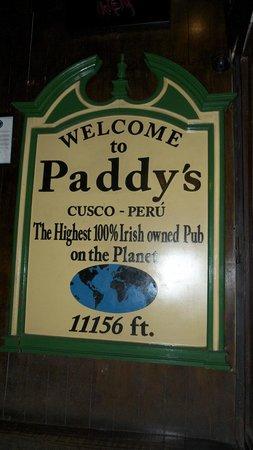 Paddy's Irish Pub: Welcome