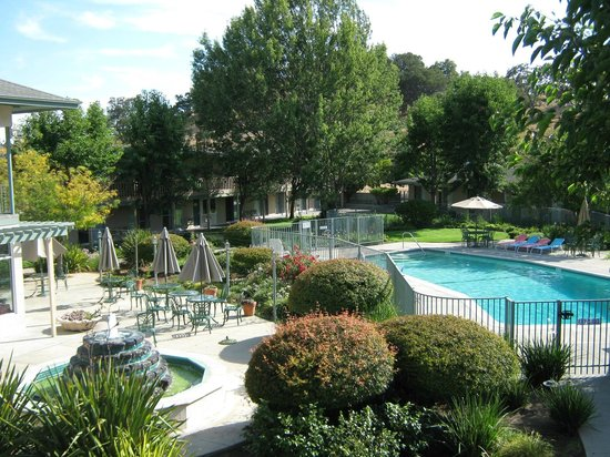 view of the courtyard and pool from our room picture of. Black Bedroom Furniture Sets. Home Design Ideas