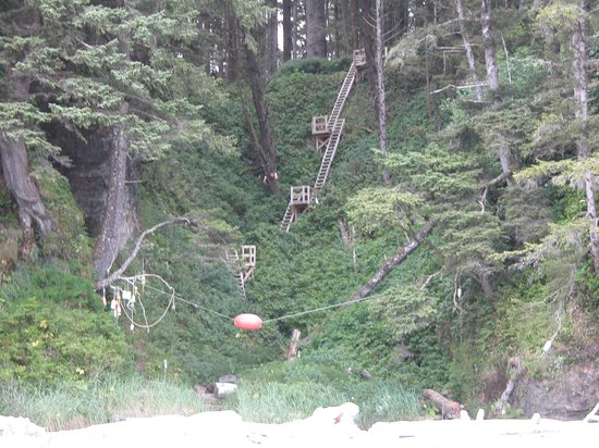 West Coast Trail: Stairs
