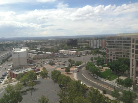 Albuquerque Marriott: Albuquerque from the window of the room.