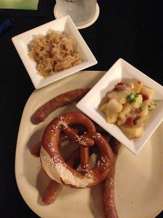 Gerhard's German Restaurant & Bar: Nürnberger Sausage, Potato Salad and Sauerkraut
