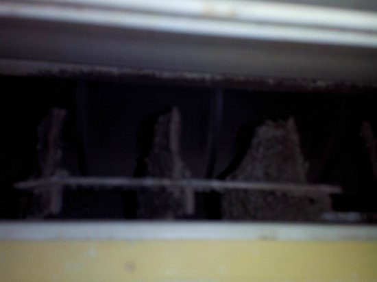 Lakshmi Hotel & Resorts: AC louvers filled with Dust and Fungus