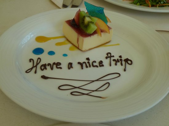 Marquis Los Cabos All-Inclusive Resort & Spa: Our fond farewell from lunch at Vista Bellenas
