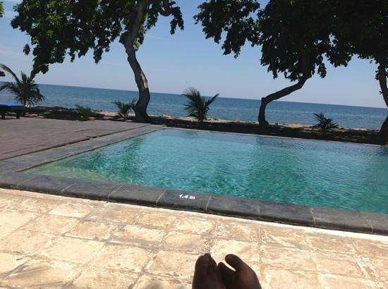 Puri Saron Hotel Baruna Beach Cottages Bali: The view from here.