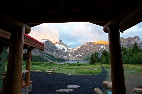 Assiniboine Lodge: View from the portico.